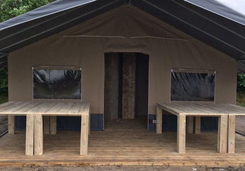 Steigerhouten tafels Washington voor vakantietenten