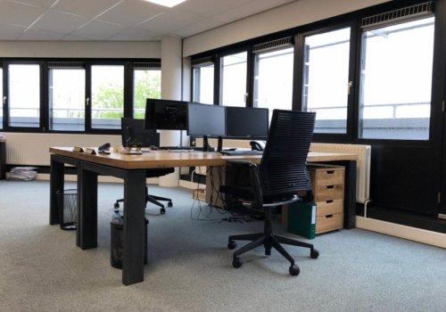 Eikenhouten industriele bureau voor kantoor