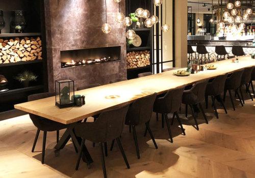 Xpoot industriele steigerhouten tafel projectinrichting