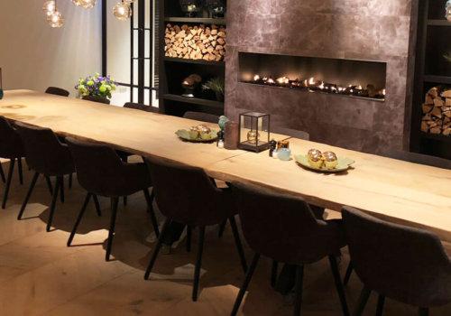 Inrichting industriele stijl restaurant
