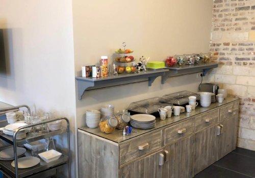 Keukenmeubel in steigerhout voor horeca