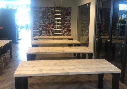 Industriele steigerhouten tafels voor kantoor
