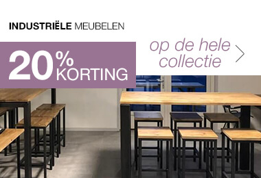 20% korting Industriële meubels voor bedrijf