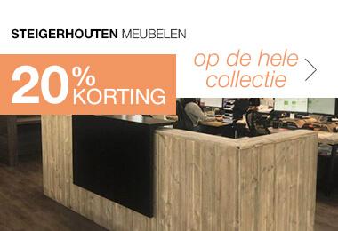 20% korting Steigerhouten meubelen voor bedrijf