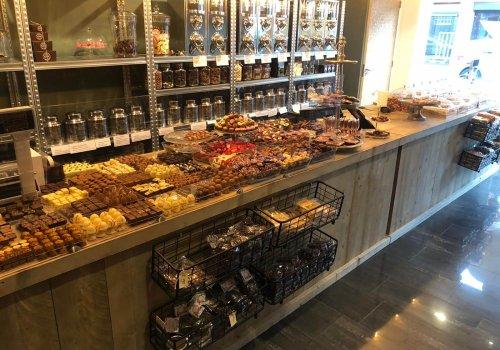 Toonbank / balie van steigerhout voor winkel