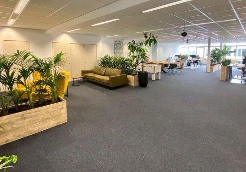 Inrichting in steigerhout kantoor
