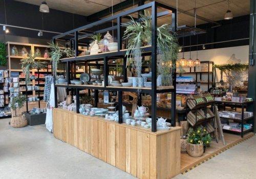 Industriele display kasten van steigerhout