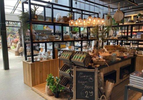 Inrichting voor winkels met industriele kasten
