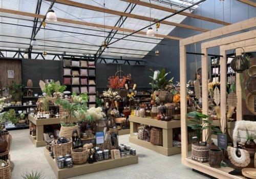 Interieur van steigerhout voor winkels