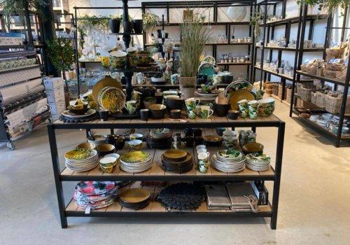 Steigerhouten industriele displaytafels